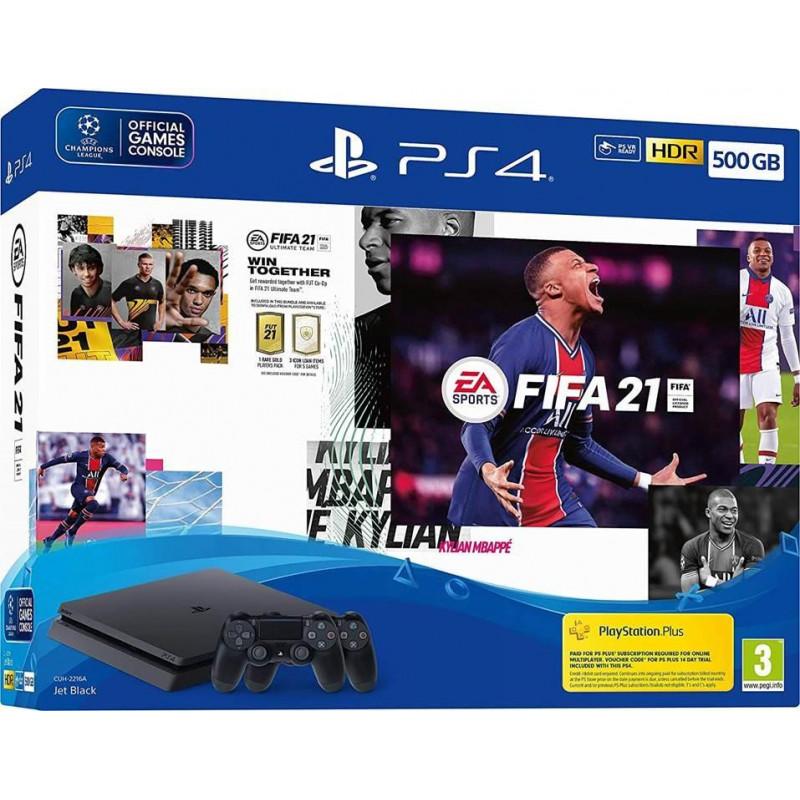 PLAYSTATION 4 CONSOLE 500GB/SLIM/FIFA21/2ND DUALSHOCK SONY