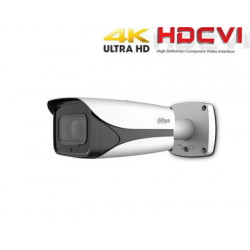 HD-CVI kamera cilindrinė 4K 8MP 3840x2160 STARLIGHT su IR iki 100m. 3.7-11mm. WDR, IP67